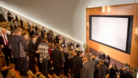 Thousands of Scientologists and guests toured the new Church of Scientology Twin Cities following ribbon-cutting ceremonies. The Chapel serves parishioners and guests for Sunday services, weddings and naming ceremonies. The original 300-seat IMAX Theater further serves as a venue for a wide range of community events.